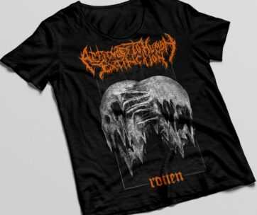 T-shirt black / orange