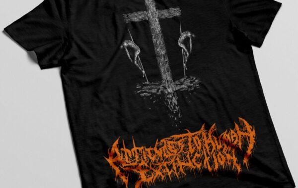 T-shirt black / orange ATHE