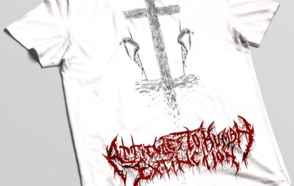 T-shirt white / red ATHE